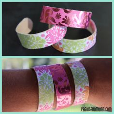 DIY - Wooden Popsicle Stick bangles! (Louise) :http://pagingfunmums.com/2013/06/22/diy-wooden-popsicle-stick-bangles-louise/