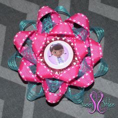 Sassy Sunflower Doc McStuffins Hair Bow by SassyStylesbySS on Etsy