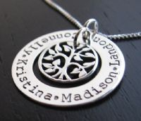 Mommy Necklaces - Sterling Silver Mommy Jewelry - Mommy Jewelry,Hand Stamped Jewelry,Engraved Jewelry and Gifts