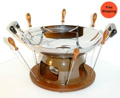 Vintage Fondue Set - Domestic Shipping Included. $55.00, via Etsy.
