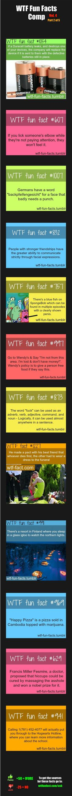 WTF Fun Facts Comp Vol. 4 Part 2: