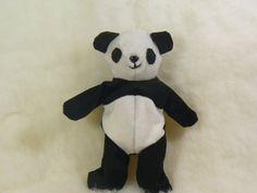 Tiny Bean Bag Panda Stuffed Animal Fiber Art Soft by LadyAstarte