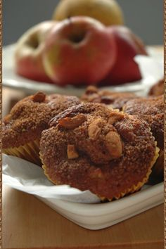 Mufinki z jabłkami i cynamonem