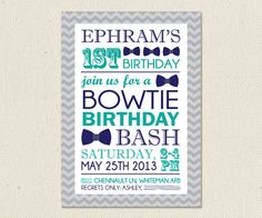 65 best little mans bowtie birthday bash images on pinterest first birthday bowtie invitation filmwisefo