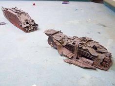 Titanic wreck model