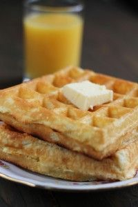 Homemade Buttermilk Waffles from the Hillbilly Housewife website. These are sooooo good. Need to make them again.
