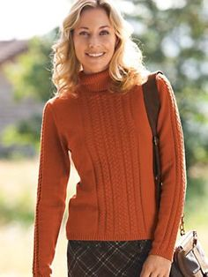 Oversized Turtleneck Sweater from Garnet Hill | Clothing ...
