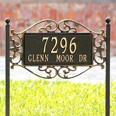 "Fretwork Address Plaques - Aged Copper, Wall - Grandin Road by Grandin Road. $109.00. Crafted in cast aluminum. Wider frame delivers greater definition. Holds five 4"" numbers on a single line. Deeper raised letters. Two lines hold five 3"" numbers and 1-1/4"" characters. Crafted in cast aluminum. Deeper raised letters. Wider frame delivers greater definition. Holds five 4"" numbers on a single line. Two lines hold five 3"" numbers and 1-1/4"" characters. Our Aluminum Fret..."