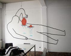 Daan Botlek's Street Art Of Figures Crawling Out of Their Skin | Beautiful/Decay Artist & Design