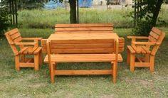Meble ogrodowe BB-Z4. Zestaw mebli do ogrodu. Ławki ogrodowe, krzesła drewniane