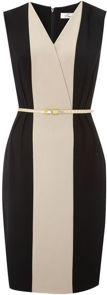 Kenneth Cole   Panel Dress with Belt     ...