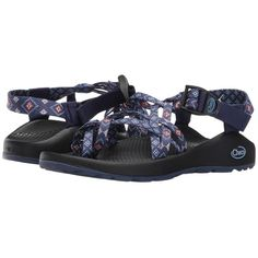 Chaco ZX/2 Classic (Wink Blue) Women's Sandals ($105) ❤ liked on Polyvore featuring shoes, sandals, platform sandals, blue shoes, wrap around sandals, toe ring sandals and chaco shoes