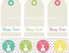 Imprimibles gratis para sus cestas de Pascua  -   FREE printables for your Easter baskets
