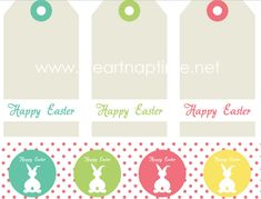 Super cute FREE printables for your Easter baskets