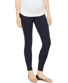 A Pea in the Pod Skinny Ponte Maternity Pants - Blue M
