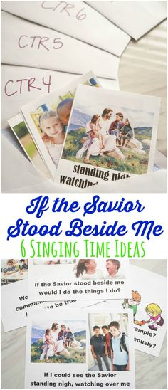 If the Savior Stood Beside Me - Singing Time Ideas! Easy ideas for primary music leaders to teach this great primary song! Includes printables to make it easy to use these ideas. via @amomstake