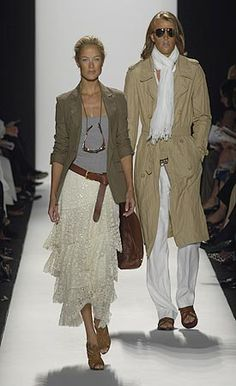 Michael Kors- Sooo great! military jacket with frilly skirt. My favorite combo.. something hard with something soft.
