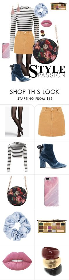"""""""Vintage twist"""" by faith-32 on Polyvore featuring Express, Topshop, Miss Selfridge, self-portrait, Recover, Too Faced Cosmetics, Salvatore Ferragamo, Lizzie Fortunato and vintage"""