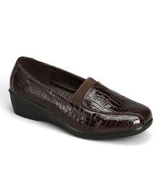 Brown Croco New Loafer #zulily #zulilyfinds