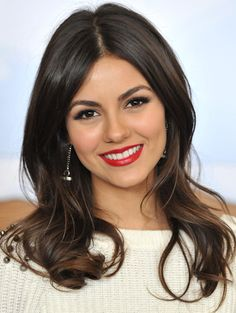 Victoria Justice + Doe Eyes + Red Lips