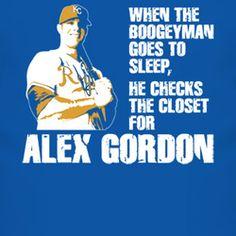 Kc Kansas City K.C. Alex Gordon Baseball Boogeyman T Shirt