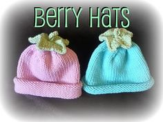 Free Pattern – Knitted Berry Hats from Snips and Spice · Knitting | CraftGossip.com