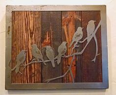 Hey, I found this really awesome Etsy listing at https://www.etsy.com/listing/260169732/6-birds-on-a-branch-metal-art-reclaimed