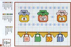 <3 Cross Stitch Boarders, Cross Stitch Fruit, Cross Stitch Kitchen, Cross Stitch Alphabet, Cross Stitch Charts, Cross Stitch Designs, Cross Stitching, Cross Stitch Embroidery, Cross Stitch Patterns
