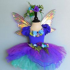 Fairy Costume  Violet and Blue Sparkle  fairy  by FairyNanaLand, $115.00