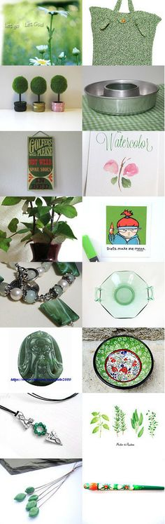 shades of green by Linda Donnelly on Etsy--Pinned with TreasuryPin.com