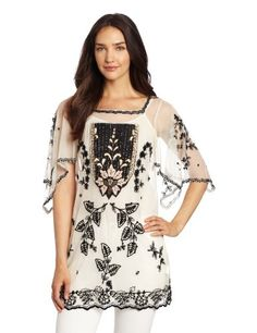 Anna Sui Women's Victorian Embroidery On Tulle « Impulse Clothes