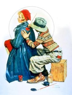 Painting coat - Norman Rockwell