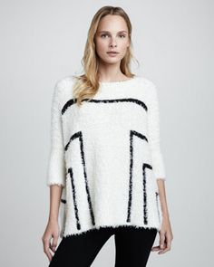 Fuzzy Boxy Contrast Pullover $395 http://www.cusp.com/product.jsp?masterId=cat400000&seoDesigner=Elizabeth+and+James&isEditorial=false&seoCategory=Winter+Whites&parentId=cat940004&index=10&seoProduct=Fuzzy+Boxy+Contrast+Pullover+(Stylist+Pick!)&cmCat=cat000000cat000001cat2330002cat400000cat940004&itemId=prod7910031