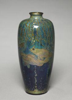 Royal Lancastrian Vase, 1914  made by Pilkington's Royal Lancastrian Pottery Co. (British), designed by Richard Joyce (British, 1873-1931)  ...