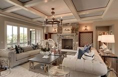 """The wall color is """"Bleeker Beige by Benjamin Moore HC-80″ and the ceiling is """"Benjamin Moore Ice Cap 1576""""."""