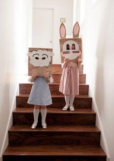 Brown Sack Easter Masks  - CountryLiving.com