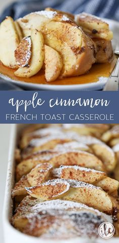 Apple Cinnamon French Toast Casserole - Overnight French Toast Recipe Apple Cinnamon French Toast Casserole - Easy Overnight French Toast via Texas Toast, Cinnamon French Toast, Cinnamon Apples, Apfel French Toast, Overnight French Toast, Breakfast Toast, Breakfast Dishes, Breakfast Recipes, Recipes
