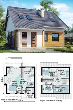 Dream House Plans, Small House Plans, House Floor Plans, My Dream Home, Building Plans, Building A House, Affordable House Plans, Small House Design, Home Design Plans