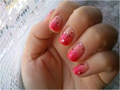 ombre nails with O.P.I. Minnie style