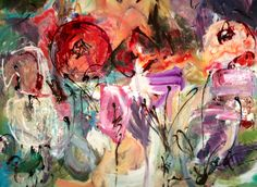 Phyllis Gibson Abstract Garden 30x40 sold