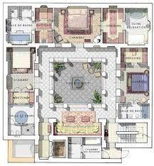 """نتيجة بحث الصور عن """"riad"""" """"floor plan"""" home interior garden"""