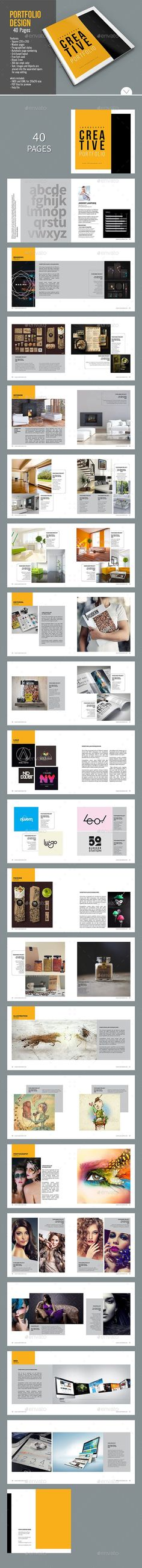 Graphic Design Portfolio Brochure Template InDesign INDD
