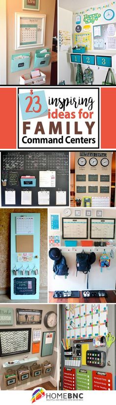 23 stunning command center ideas that will transform your space - Kitchen Wall Organization Ideas