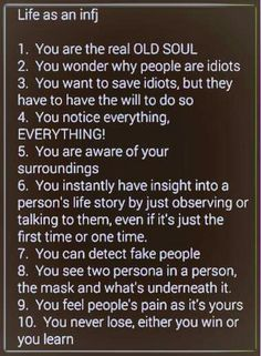 Every one of these is true for me...