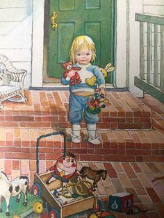 Vintage Children's Books, Vintage Art, Vintage Toys, Milly And Molly, Storybook Cottage, Vintage Valentine Cards, Little Golden Books, Retro Art, Children's Book Illustration