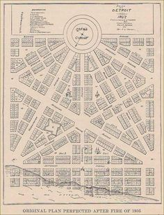 Affordable Low and High-Rise Honeycomb Housing: The Hexagonal Plan for Detroit Detroit Map, Detroit Rock City, Detroit History, Metro Detroit, Detroit Area, Local History, Family History, Michigan Travel, State Of Michigan