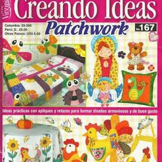 Album Archive - 210 Creando ideias Patchwork n. Quilting Tips, Quilting Projects, Diy Projects To Try, Crafts To Make, Baby Applique, Japanese Patchwork, Sewing Magazines, How To Make Purses, Crochet Magazine