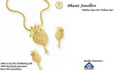 Buy Complete #Hallmarked #Gold #Jewellery! Get It From Bharat Jewellers!