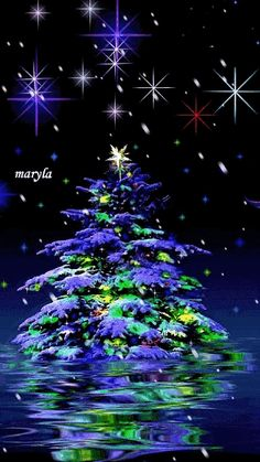 weihnachten gif Unserem So - Christmas Tree Gif, Purple Christmas, Christmas Tree Themes, Christmas Scenes, Merry Christmas And Happy New Year, Christmas Pictures, Christmas Greetings, Beautiful Christmas, Winter Christmas