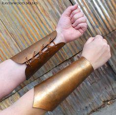 Leather bracers  armor  costume  knight  ranger  by RavenwoodMasks, $65.00